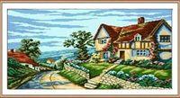 """Алмазная вышивка-мозаика """"Дом у моря"""" (550x420 мм)"""