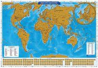"""Скретч-карта """"Карта твоих путешествий"""" (860х600 мм)"""