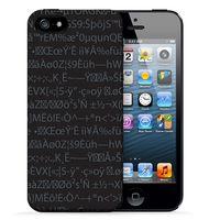 """Чехол для iPhone 5/5S """"Random"""" (чёрный)"""