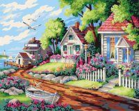 """Картина по номерам """"Улица в три дома"""" (400x500 мм; арт. MG217)"""