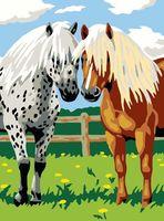 "Картина по номерам ""Лошадки"" (400х300 мм)"