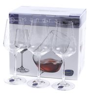 "Бокал для вина стеклянный ""Sandra"" (6 шт.; 350 мл; арт. 40728/C5995/350)"