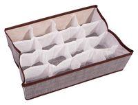 Органайзер для белья (35х26х9 см; 16 ячеек; серый)