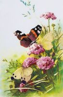 "Вышивка гладью ""Бабочки"" (150х230 мм)"