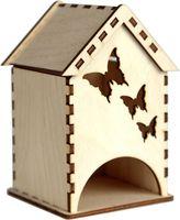"""Заготовка деревянная """"Чайный домик. Бабочки"""""""