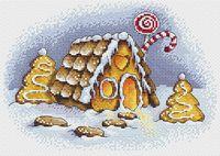 "Вышивка крестом ""Пряничная зима"" (230х160 мм)"