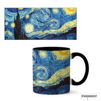 """Кружка """"Ван Гог. Звездная ночь"""" (387, черная)"""