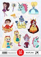"""Набор бумажных наклеек №103 """"Звездная принцесса и силы зла"""""""