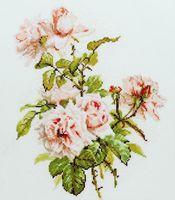 """Вышивка крестом """"Розовые розы"""" (240х300 мм)"""