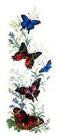 """Вышивка крестом """"Порхающие бабочки"""" (160х450 мм)"""