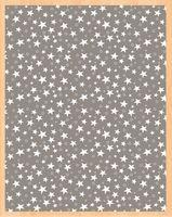 """Простыня хлопковая на резинке """"Stars Grey"""" (90х200 см)"""