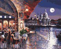 "Картина по номерам ""Ночное кафе Венеции"" (400х500 мм)"