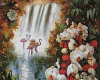 """Алмазная вышивка-мозаика """"Райский сад"""" (400х500 мм)"""