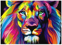 """Картина из песка """"Радужный лев"""" (300х400 мм)"""