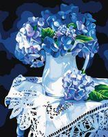 """Картина по номерам """"Голубая гортензия"""" (500х400 мм)"""