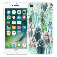 """Чехол для iPhone 7/8 """"Цветущие кактусы"""" (зелёный)"""