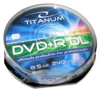Диск DVD+R Dual Layer 8.5Gb 8x Esperanza Titanum CakeBox 10