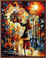 "Картина по номерам ""Осенний дождь"" (400х500 мм; цветной холст)"