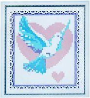 "Алмазная вышивка-мозаика ""Голубь"" (130х150 мм)"