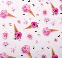 """Бумага упаковочная """"Розовое мороженое"""""""