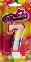 """Свеча для торта """"Цифра 7"""""""