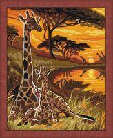 """Картина по номерам """"Жирафы"""" (400х500 мм)"""