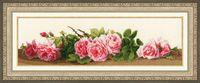 "Вышивка крестом ""Розовый аромат"" (134x458 мм)"