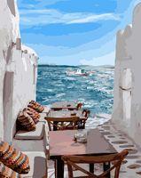 "Картина по номерам ""Средиземноморский переулок"" (400х500 мм)"