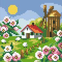"""Алмазная вышивка-мозаика """"Весенний пейзаж"""""""