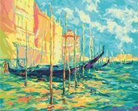 "Картина по номерам ""Стоянка гондол. Венеция"" (400х500 мм)"