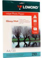 Фотобумага глянцевая/матовая двусторонняя Lomond (25 листов; 210 г/м2; А4)