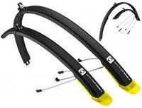 """Комплект щитков для велосипеда """"Ubiquit 46 SDL"""" (чёрно-жёлтый)"""