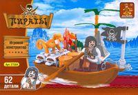 """Конструктор """"Пираты. Пират и обезьянка на лодке"""" (62 детали)"""