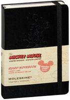 """Записная книжка в линейку """"Mickey Mouse"""" (А6; твердая черная обложка)"""