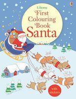 First Colouring Book. Santa