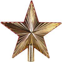 """Ёлочное украшение """"Верхушка. Золотая звезда"""""""