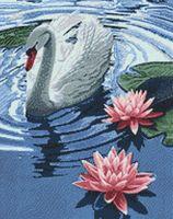 "Алмазная вышивка-мозаика ""Принцесса-лебедь"" (380х480 мм)"
