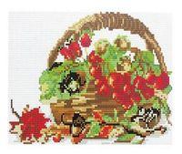 """Алмазная вышивка-мозаика """"Корзинка с ягодами"""""""
