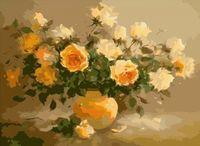 """Картина по номерам """"Чайные розы"""" (400x500 мм; арт. MG278)"""