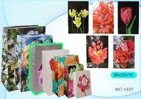 """Пакет бумажный подарочный """"Цветы"""" (в ассортименте; 26x32x10 см; арт. МС-1407)"""