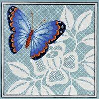 """Вышивка крестом """"Ажурная бабочка"""" (270х270 мм; арт. 1122)"""