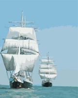 "Картина по номерам ""Корабли в море"" (400х500 мм)"