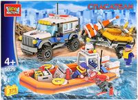 """Конструктор """"Спасатели. Джип с лодкой"""" (375 деталей)"""