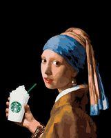 "Картина по номерам ""Девушка с двойным латте"" (400х500 мм)"