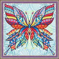 """Алмазная вышивка-мозаика """"Узор бабочки"""" (300х300 мм)"""