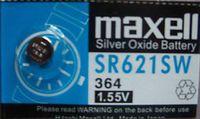 Батарейка SR621SW 364 Maxell из оксида серебра