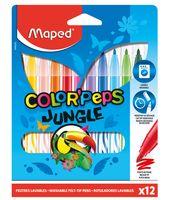 """Набор фломастеров цветных """"Color Peps Jungle"""" (12 цветов)"""