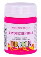 """Краска акриловая """"Decola. Neon"""" (карминовая; 50 мл)"""
