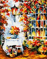 "Картина по номерам ""Столик в саду"" (400х500 мм)"