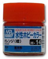 Краска Aqueous Hobby Color водоразбавляемая (orange, H-14)